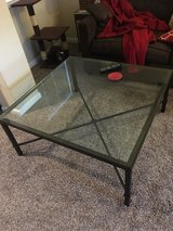 Glass coffee table in Lackland AFB, Texas