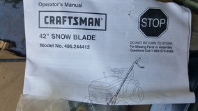 "Craftsman 42"" snow blade in Schaumburg, Illinois"