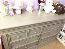 gray baby caché wooden dresser in 29 Palms, California