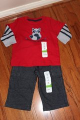 CLEARANCE***BRAND NEW***Mischief Maker Shirt And Pants***12 MTHS.NWT in Kingwood, Texas