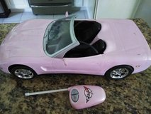Barbie Corvette Remote Controlled Car in Conroe, Texas