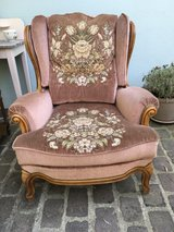 french vintage armchair with beautiful roses shabby chic in Ramstein, Germany