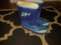 Kidorable shark rain boots size 13 in Sugar Grove, Illinois