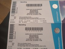 2 x live madness tickets with parking 7/7/18 in Lakenheath, UK