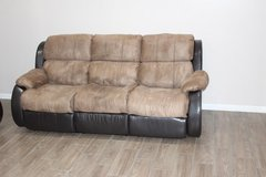 Leather Reclining Sofas with Cup holder console and hand Rest! in CyFair, Texas