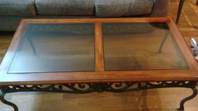 Plunkett Wooden, Metal & Glass Coffee & End Table in Palatine, Illinois