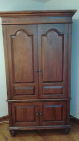 TV or Clothes Solid Wood Armoire in Palatine, Illinois