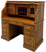 Oak RollTop Desk in Perry, Georgia