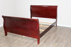 Queen Sleigh Bed Wood Frame Excellent in CyFair, Texas