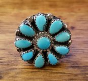 REDUCED Ring Turquoise flower in 29 Palms, California