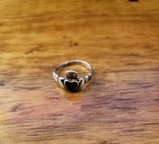 REDUCED Ring Claddagh silver onyx in 29 Palms, California