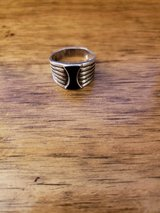 REDUCED Ring silver onyx in 29 Palms, California