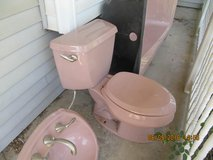 Rose Colored bathroom fixtures in Liberty, Texas