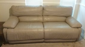 Leather Push Button Reclining Couch in San Antonio, Texas