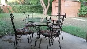 High Quality Pier 1 Iron and Glass Table and Chairs in Fort Sam Houston, Texas