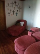 2 Chase one chair with ottoman and a side table with storage in Alamogordo, New Mexico