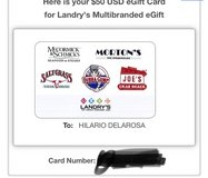 $50 Landry's Gift Card in St. Charles, Illinois