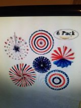 6 piece Hanging Patriotic  Decoration in Clarksville, Tennessee