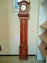 Handpainted grandfather´s clock in Wiesbaden, GE