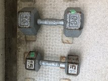 1 (30lb)and 1 (15lb) dumbbell in Okinawa, Japan