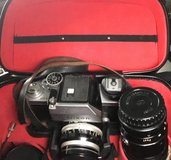 Vintage Nikon F Camera With 2 extra lenses and Case in Baytown, Texas