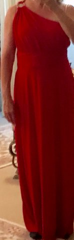 GOWN, RED, ONE-SHOULDER in Lakenheath, UK