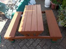 REDUCED Children's Wooden Picnic Bench in Lakenheath, UK