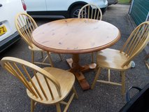 Pine Table with 4 Chairs in Lakenheath, UK