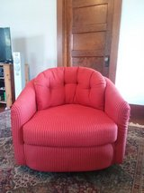 Upholstered Chair: Red, Comfortable: Good Condition in Batavia, Illinois