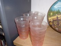 Set of Six Pink Glass Drinking Glasses in Fort Riley, Kansas