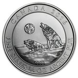 2016 Canada 3/4 oz Silver Howling Wolves BU in Fort Polk, Louisiana