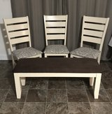 Solid Oak Chairs & Bench Set in Cary, North Carolina