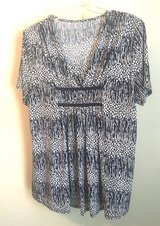 Navy Blue  and White Multi-Color Top Made in Spain! in Beaufort, South Carolina