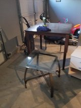 Tall brown table in Vacaville, California