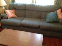 BLUE COMFY COUCH & CHAIR in Oswego, Illinois