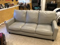 Grey Leather Couch in St. Charles, Illinois
