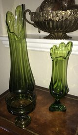 3 Pieces Of Green Decorative Glassware in Spring, Texas