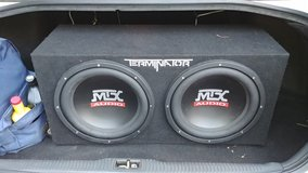 MTX Audio 12 inch subs in box. in Cary, North Carolina