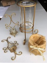 LOT of 4 GOLD Home Wall Sconce Vase Decor in Chicago, Illinois
