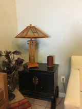 teak end table in Camp Pendleton, California