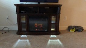 "Electric fireplace/ 55"" Tv stand in Fort Jackson, South Carolina"
