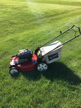 TORO HIGH WHEEL FRONT WHEEL DRIVE MOWER WITH BAG READY TO WORK in Sandwich, Illinois
