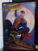 1996 THE AMAZING SPIDER-MAN PRINTS PLUS POSTER in LARGE BLACK FRAMED in Travis AFB, California