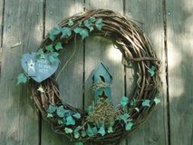 "wreath 'welcome to our nest' 17"" in Batavia, Illinois"