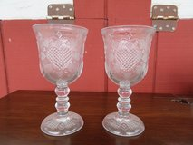 Pair of glass goblets in Alamogordo, New Mexico