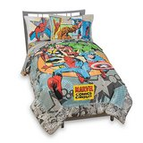 Vintage Marvel Comics Complete Bedding Ensemble Full Size in Glendale Heights, Illinois