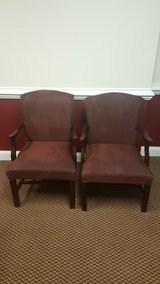 2 burgundy office chairs in Shaw AFB, South Carolina