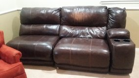 Leather Couch pieces, brown in Spring, Texas