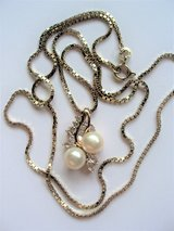 Alwand Vahan Gold & Sterling Silver Double Pearl Pendant Necklace in Converse, Texas