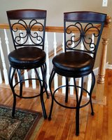 AMERICAN HERITAGE LEATHER BAR STOOLS in Plainfield, Illinois